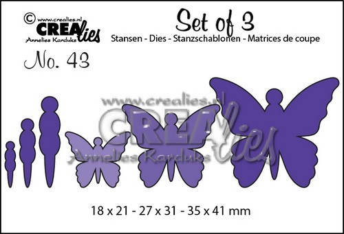 Stansmal - Crealies - Set of 3 - Vlinders 43