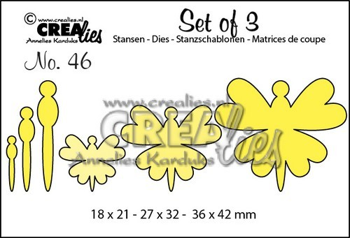 Stansmal - Crealies - Set of 3 - Vlinders 46