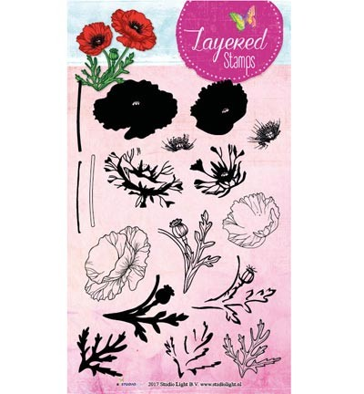 Studio Light - Clearstamp Layered Stamps - Flower nr 18