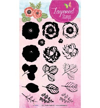 Studio Light - Clearstamp Layered Stamps - Flower nr 17