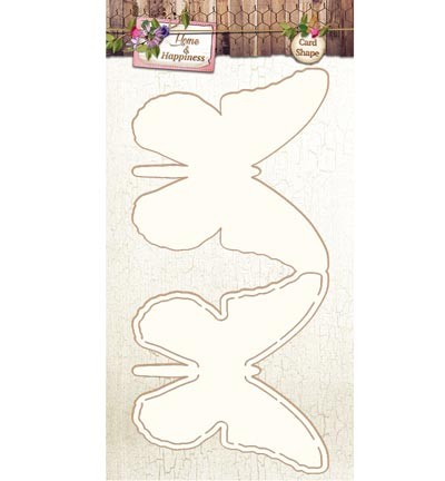 Studio Light - Home & Happiness - Card Shape Stencil 06