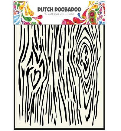 Dutch Doobadoo - Dutch Mask Art - Woodgrain