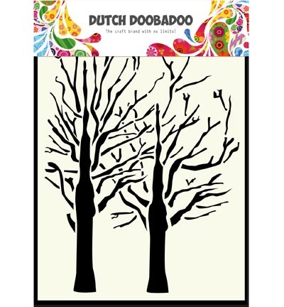 Dutch Doobadoo - Dutch Mask Art - A6 Trees