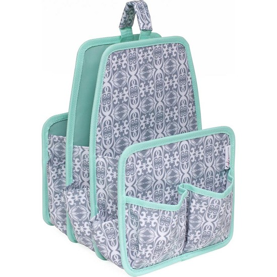 "Everything Mary - Large Deluxe Caddy 12.5""X8.5""X8.5"" - Gray/Mint"