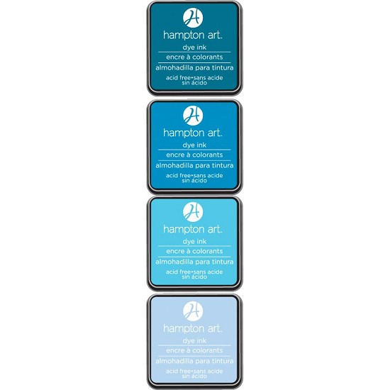 Hampton Art - Dye Ink Pads 4PK - Ocean Breeze