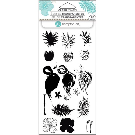 Hampton Art - Layering Stamps - Tropical