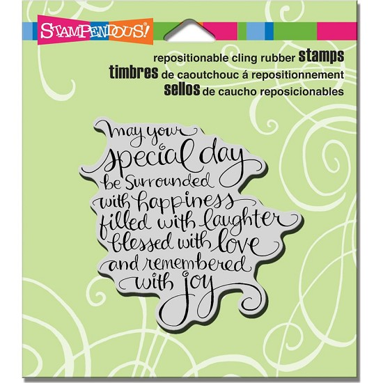 Cling stamp - Stampendous - Special day