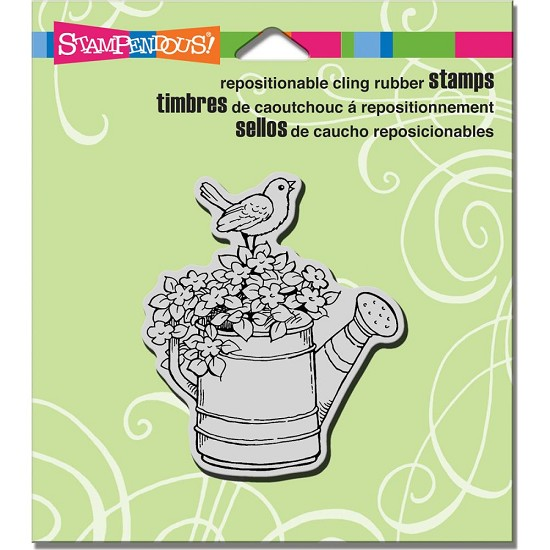 Cling stamp - Stampendous - Watering can