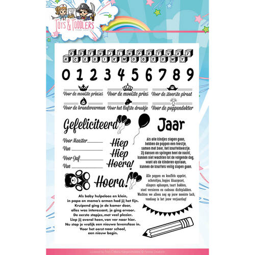 Clearstamp - Yvonne Creations - Tots and Toddlers - Tekst