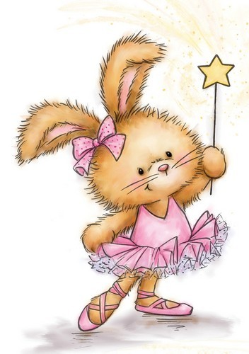 Clearstamp - Wild Rose Studio`s - Bunny Ballerina