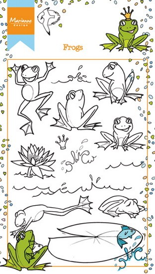 Marianne Design - Clearstamp Hetty`s Frogs