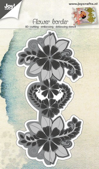 Joy! Crafts - Cutting & Embossing stencil - Eindeloze bloemenrand