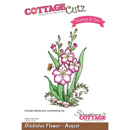CottageCutz Stamp & Die Set - Gladiolus