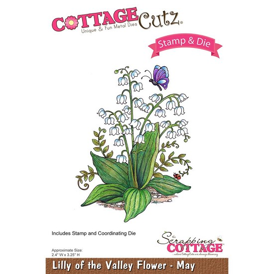 CottageCutz Stamp & Die Set - Lilly of the Valley