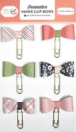 Carta Bella - Rock-a-Bye Girl - Decorative Paper Clip Bows
