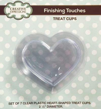 Creative Expressions -Heart Treat Cups- pk 7
