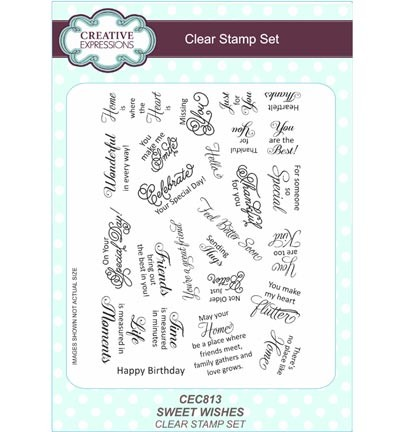 Creative Expressions - Clearstamp - Sweet Wishes