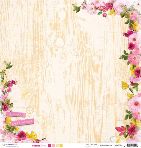 Studio Light - Celebrate Spring - Scrappapier SCRAPCS02