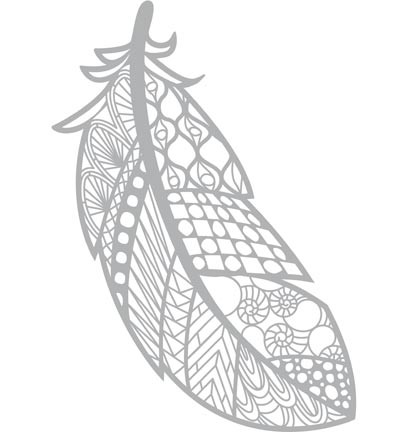 Pronty - Mask Stencil - 204x289mm - Feather Zentangle