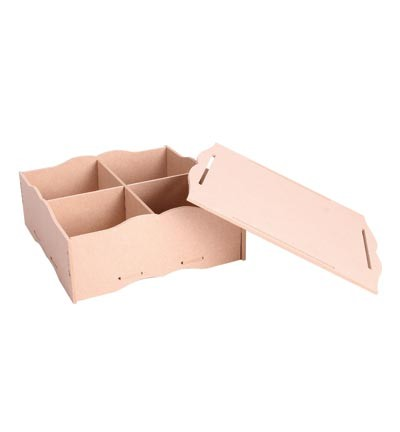 Pronty - MDF Box with lid (removable dividers)