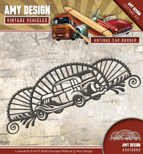 Stansmal Amy Design - Vintage Vehicles - Antique car border