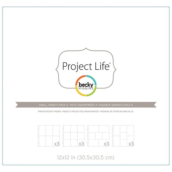 Project Life - Photo Pocket Pages 12/Pkg - Small Variety #4