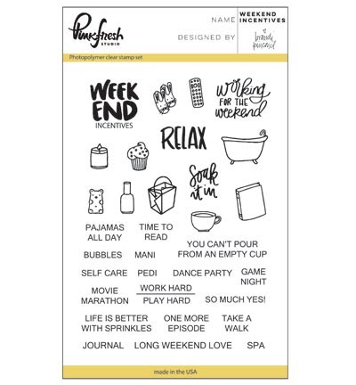 Clearstamp - Pink Fresh - Weekend Incentives
