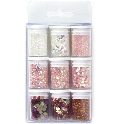 Hobby Crafting Fun - Glitter Set - Pink Assorted