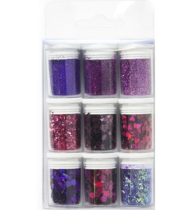 Hobby Crafting Fun - Glitter Set - Purple Assorted