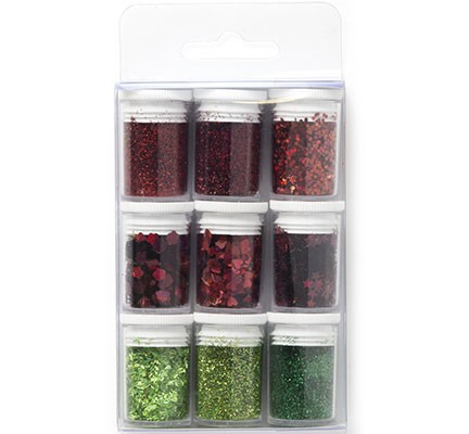 Hobby Crafting Fun - Glitter Set - Christmas Assorted