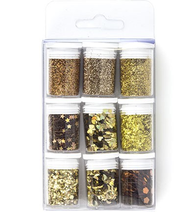 Hobby Crafting Fun - Glitter Set - Gold Assorted