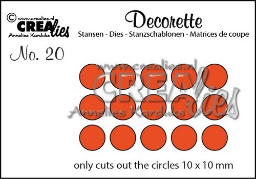 Stansmal - Crealies - Decorette - nr 20 Only Circles