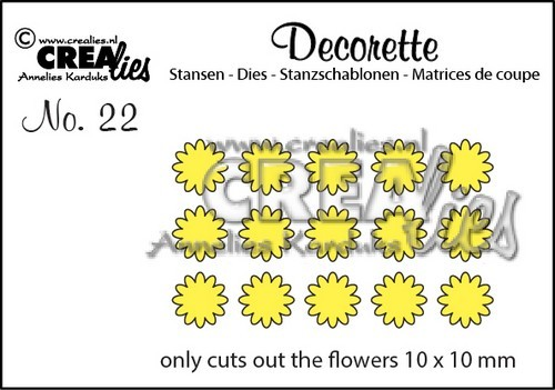 Stansmal - Crealies - Decorette - nr 22 Only Flowers