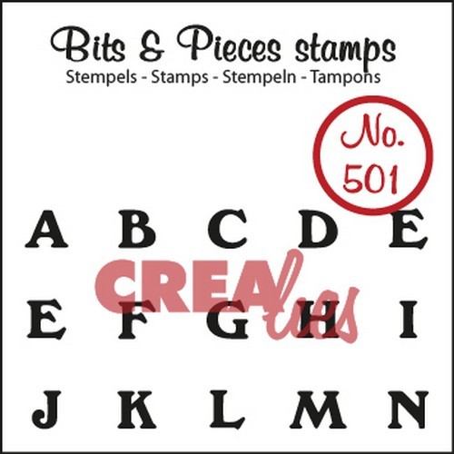 Clearstamp Crealies - Bits & Pieces - No 501 A t/m N