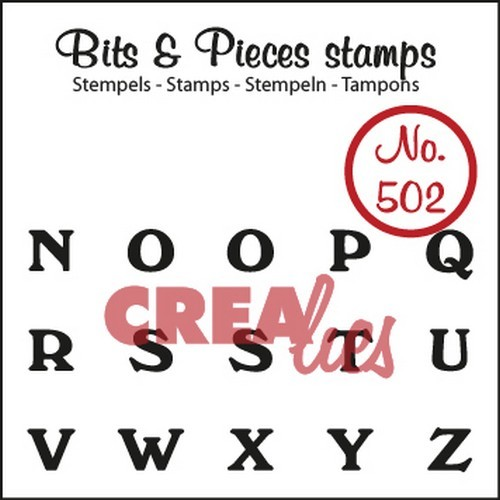 Clearstamp Crealies - Bits & Pieces - No 502 N t/m Z