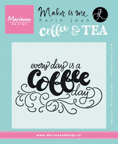 Marianne Design - Clearstamp Karin Joan - Every day is a coffee day