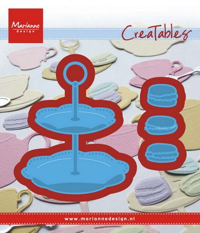 Marianne Design - Creatable - Tiered tray & macarons