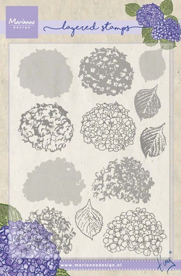 Marianne Design - Layering Clearstamp - Tiny`s Hydrangea
