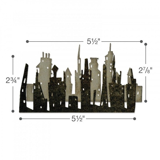 Sizzix - Thinlits Die Set - Cityscape, Skyline