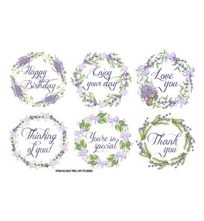 FabScraps - Lavender - Stickers Wreaths