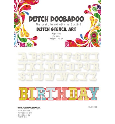 Dutch Doobadoo - Dutch Stencil Art - Alphabet A-Z