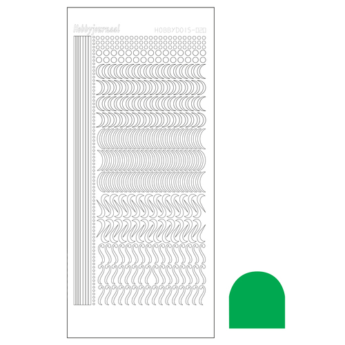 Hobbydots sticker - Serie 20 - Mirror Green