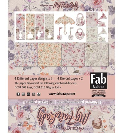 Cardkit FabScraps - My Fair Lady