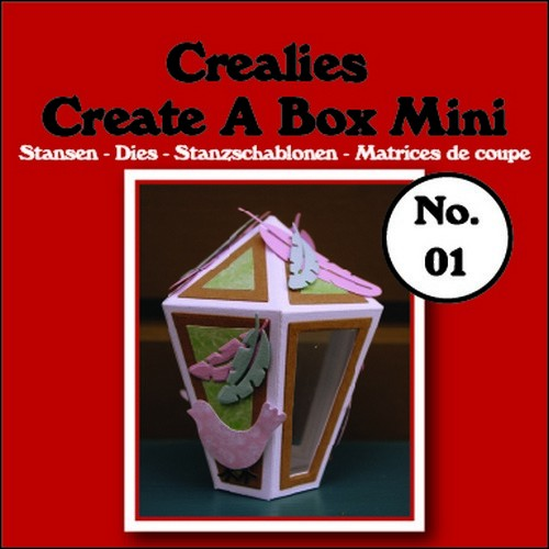 Stansmal - Crealies - Create A Box - MINI nr 1 Lantaarn