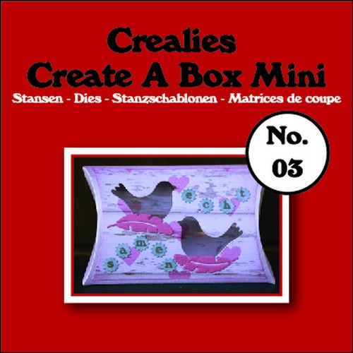 Stansmal - Crealies - Create A Box - MINI nr 3 Kussendoosje