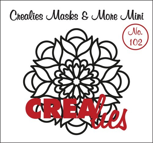 Crealies - Mask & More Mini - Mandala 102