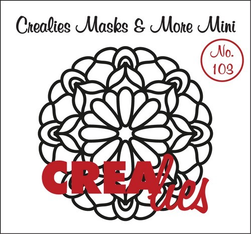 Crealies - Mask & More Mini - Mandala 103