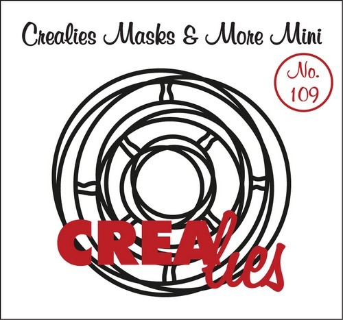 Crealies - Mask & More Mini - 109 Verstrengelde cirkels