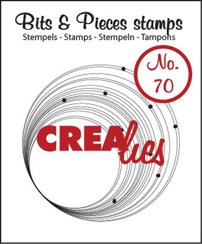 Clearstamp - Crealies - Bits & Pieces - nr 70