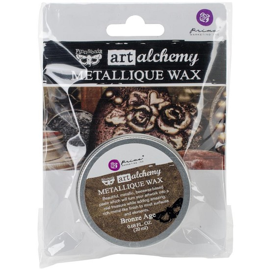 Finnabair Art Alchemy - Metallique Wax .68 Fluid Ounce - Brushed Iron